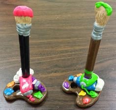 Angela Anderson Art Blog: Polymer Clay Paintbrush Pen and Palette - Kids' Art Class