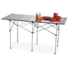 Guide Gear XL Roll - top Table, (roll-up camp table, camping, portable table, tailgating)