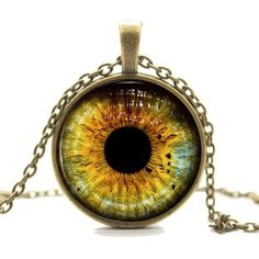 Amazon.com - Wolf Eye Necklace Pendant - Bronze Wild Wolves Animal... ($2.04) ❤ liked on Polyvore featuring jewelry, pendants, animal pendants, bronze jewelry, charm pendant, pendant jewelry and bronze pendant