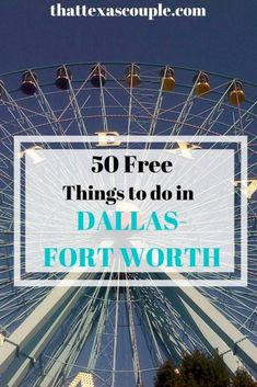 Are you headed to Dallas-Fort Worth? Then you need this list of 50 free things to do in Dallas-Fort Worth. We have lived in this area all of our lives, and know how to have a good time without breaking the bank! Texas Travel, Travel Usa, Travel Tips, Travel Guides, Travel Destinations, Fort Worth Nature Center, Fort Worth Stockyards, California With Kids, Visit Texas