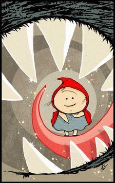 Pinzellades al món: Caputxeta Roja il·lustrada / Caperucita Roja ilustrada / Little Red Riding Hood illustrated / Le Petit Chaperon Rouge illustré (6)