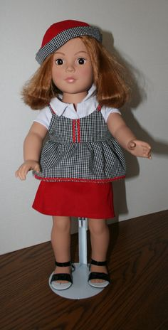 American Girl Doll ClothesGingham Four Piece by KathiesDollCloset, $12.99