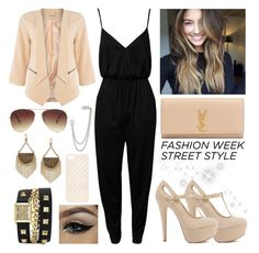 """""""#61 Street Style"""" by charlotte-sk ❤ liked on Polyvore featuring Ichi, Yves Saint Laurent, French Connection, NLY Trend, Vince Camuto, House of Harlow 1960, Forever 21 and Promod"""