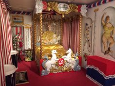 Cecil Beaton's Circus Bed - recreated by Beaudesert Ltd for #CBatHome exhibition
