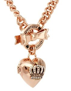 Enlarge Juicy Couture Bow Toggle Heart Necklace