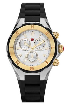 MICHELE 'Tahitian Jelly Bean' 40mm Two Tone Watch available at #Nordstrom