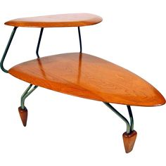 Rare John Keal Surfboard Side Table for Brown Saltman @shoprubylux #HarveysOnBeverly #MidCenturyModern