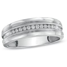 Mens 1 CT TW Diamond Wedding Band in Platinum II2 Diamond