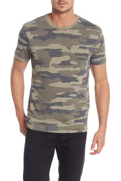 Lucky Brand Camo Print Pocket T-Shirt Camo Print, Lucky Brand, Short Sleeves, Men Casual, Mens Fashion, Pocket, Suits, Mens Tops, T Shirt