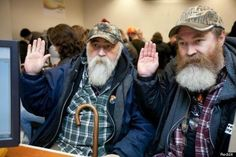 Bearded Love: Larry Duncan And Randell Shepherd Apply For Marriage License In Seattle  on the first day that the marriage equality law was put in action.