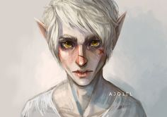 Pale elf by Ajgiel on DeviantArt