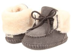 "Ugg: Baby Sparrow Bootie Infant/Toddler (Grey) Enter Code: ""15SHOP"" at Checkout at http://www.littlefeetshoes.com for 15% off Prices."