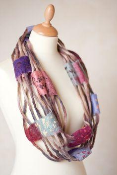 felted loop scarf, nice design
