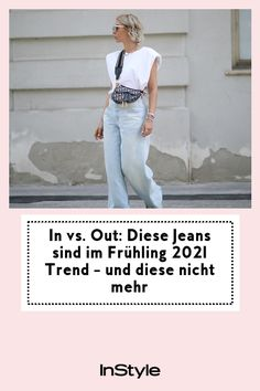 Jeans sind immer Trend! Welche Modelle wir im Frühling 2021 tragen und welche nicht mehr, verraten wir euch hier. #instyle #instylegermany #frühling #2021 #trend #jeans #denim #invsout Jeans Rock, Denim Jeans, Overall, Trends, Outfit, Fashion, Runway, Jackets, Outfits