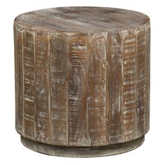 Cannie White Patina Mango Wood End Table - Overstock™ Shopping - Great Deals on Kosas Collections Coffee, Sofa & End Tables $280
