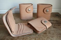 We put a few sample snap wallets on the website for $75. Click through to go to www.CorterLeather.com, first come first serve!