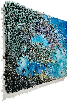 Textural Paintings (in paper, paint and glue) by Amy Gesner; following the link leads to more intriguing images, can go to her website.