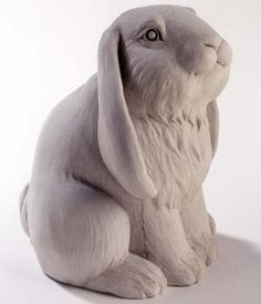 Frenchy the bunny rabbit garden setting sculpture by George Carruth artist. Rabbit Sculpture, Stone Sculpture, Garden Sculpture, Pottery Animals, Ceramic Animals, Cat Christmas Ornaments, Christmas Cats, Outdoor Statues, Garden Statues