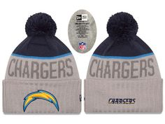 Mens   Womens San Diego Chargers New Era 2016 NFL Playoffs Popular Fashion  Gray Sport Knit 687e43a289a6