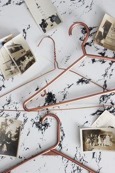 DIY Copper Clothes Hangers @poppytalk