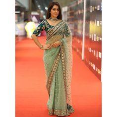 SR1733 Bollywood Green Net Saree price in Sri Lanka | RetailGenius