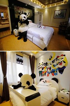 Yep! That's a panda-themed hotel room