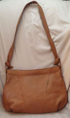 New Fashion Collection Cognac Brown Leather Women's Shoulder Bag - Medium-Sized…