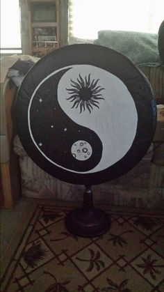 Hand painted spare tire cover by kateskraftsandgifts on Etsy