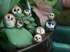 Brown Pygmy Clay Owl. $8.00, via Etsy.