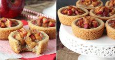 Máslové košíčky s karamelem a jablečnou náplní