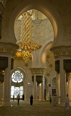 Main Prayer Hall, Sheikh Zayed Grand Mosque, Abu Dhabi, UAE