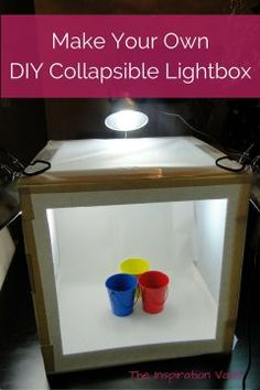Make Your Own DIY Collapsible Lightbox Tutorial - Perfect idea for improving photos with an easy-to-store solution!