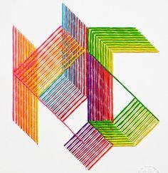 Mejores proyectos de bordado del 2013 / Best embroidery projects of 2013 / Meilleurs projets de brodérie de 2013 - Evelin Kasikov http://evelinkasikov.com/Modern-Monogram