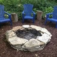 stacked rustic rock Fire Pit