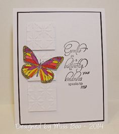 CAS264 - Gentle as a Butterfly - stamps from Rubbernecker