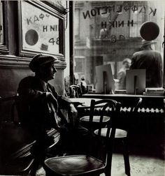 Rebecca Lepkoff , Man sitting in Greek cafe Lower East Side N.C 1940 Man Photography, History Of Photography, Vintage Photography, Editorial Photography, Street Photography, Greek Cafe, Thinking Photos, Lower East Side Nyc, Parisian Cafe