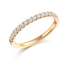 Brilliant Cut Micro Set Half Eternity Ring 0.33ct