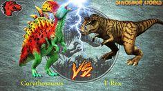 T-Rex VS Corythosaurus Level 40   Jurassic World The Game [1080P]