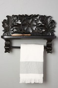 Bough Branch Towel Shelf #anthropologie #bathroom