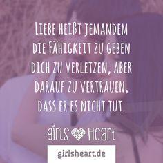 Mehr Sprüche auf: www.girlsheart.de  #liebe #verletzen #vertrauen #partnerschaft #partner #verliebt