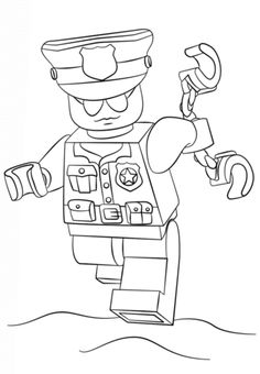 lego police officer coloring pagepng 333480