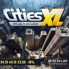January #gamedeals Cities XL Platinum -76% Off $4.79 4.79 3.59 http://ift.tt/2iE1GOG #focus #pcgaming #pcgamer #gaming #siladeals