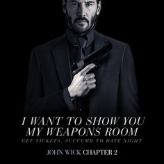 I want to show you my weapons room. John Wick Tattoo, John Wick Meme, Watch John Wick, Asia Kate Dillon, Keanu Reeves John Wick, Keanu Reaves, I Will Fight, Movie Poster Art, Special Forces