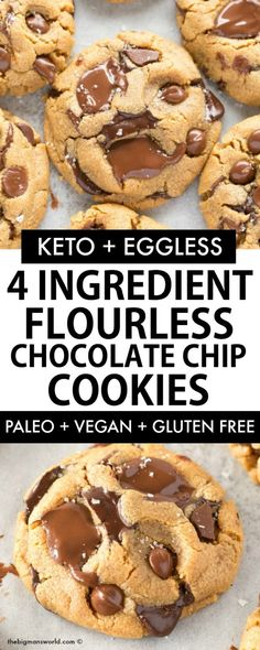 3 Ingredient FLOURLESS and SUGAR FREE cookies are a game-changer! Soft, chewy and ready in 12-minutes, it's EGGLESS too! #cookies #flourless #ketodessert #vegandessert #ketorecipes