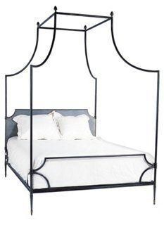 Loire Delicate Iron Princess Canopy Bed Queen -- The open airy design of  sc 1 st  Pinterest & Allegra Iron Canopy Bed | kids | Pinterest | Iron canopy bed ...