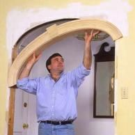 CurveMakers Patented Arch Kits, Wood Arches, D-I-Y Arched Doorways and Openings… Archway Molding, Wood Arch, Arch Doorway, Moldings And Trim, Crown Moldings, Diy Interior, Wainscoting, Home Repair, Home Projects
