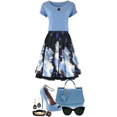 Blue Spring Look by angela-windsor on Polyvore