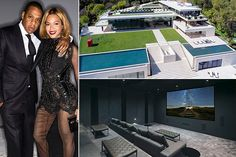 87 jaw-dropping estates of celebrities - the beyonce/jayz one in photo is 88 million, 6 buildings 35k sq feet - but total of 8 bedrooms! trippy...!