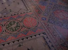 The tile floor inside Sainte-Chapelle (Holy Chapel), a royal medieval Gothic chapel, in the center of Paris. Photo by Brian Kaylor.