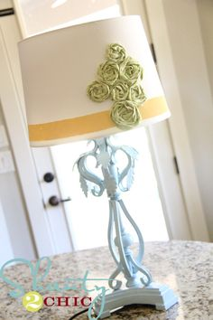 Love this lamp with the yellow with blue and green